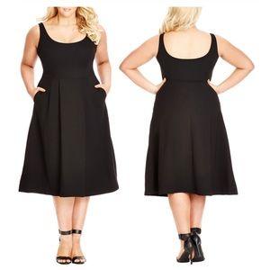 City Chic Longline Scoop Neck Midi Dress XL/22